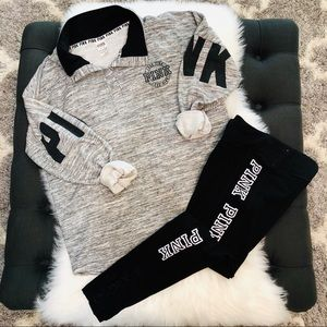 PINK BUNDLE Size Medium Leggings and Sweatshirt EC